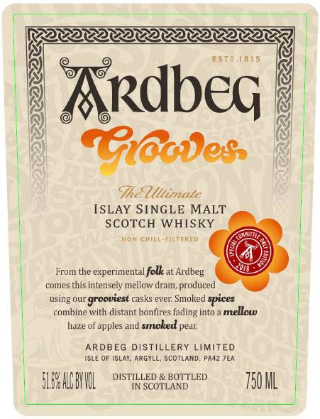 Ardbeg Grooves Committee Edition - Front Label