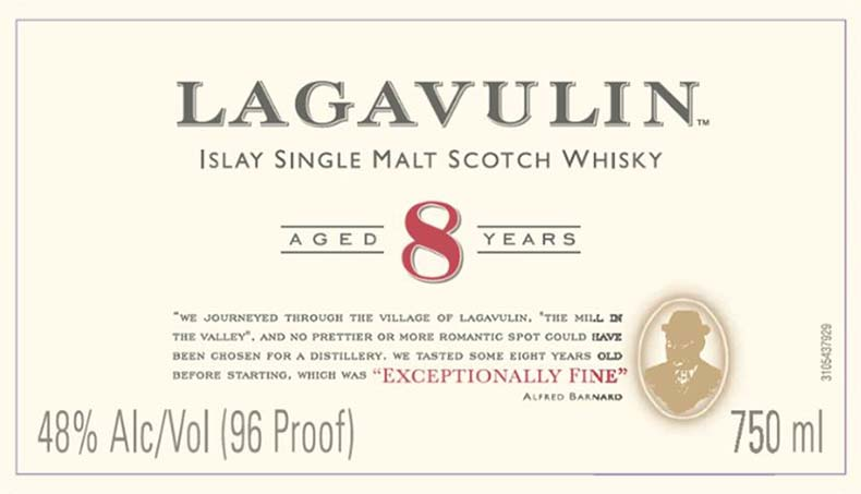 Lagavulin 8 - Front Label
