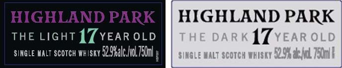 Highland Park The Light and The Dark - Front Labels