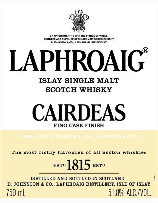 Laphroaig Cairdeas Fino Cask Finish - Front Label