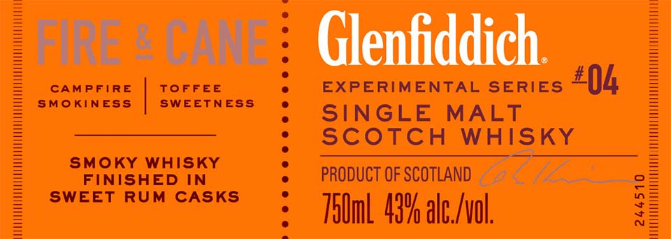 Glenfiddich Fire & Cane - Front Label