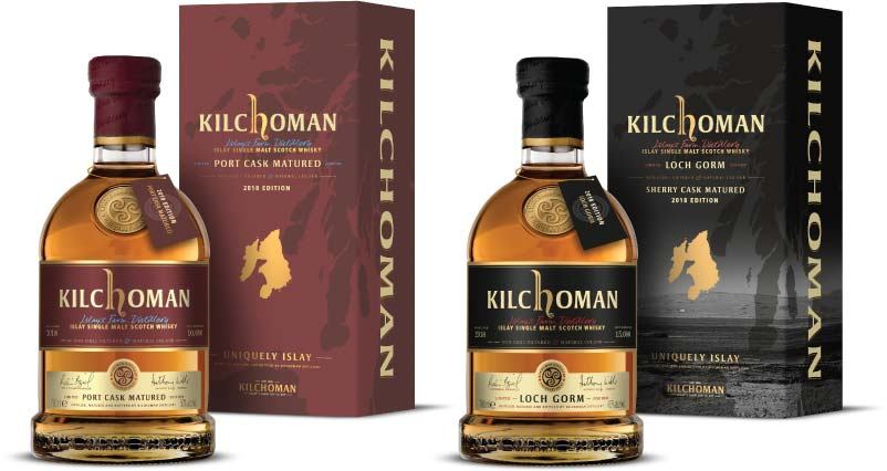 Kilchoma Port Cask Matured and Loch Gorm 2018 Editions