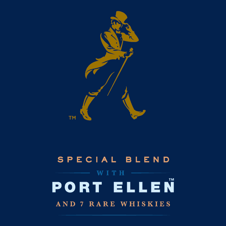 Johnnie Walker Blue Label Ghost and Rare Port Ellen - Front Label