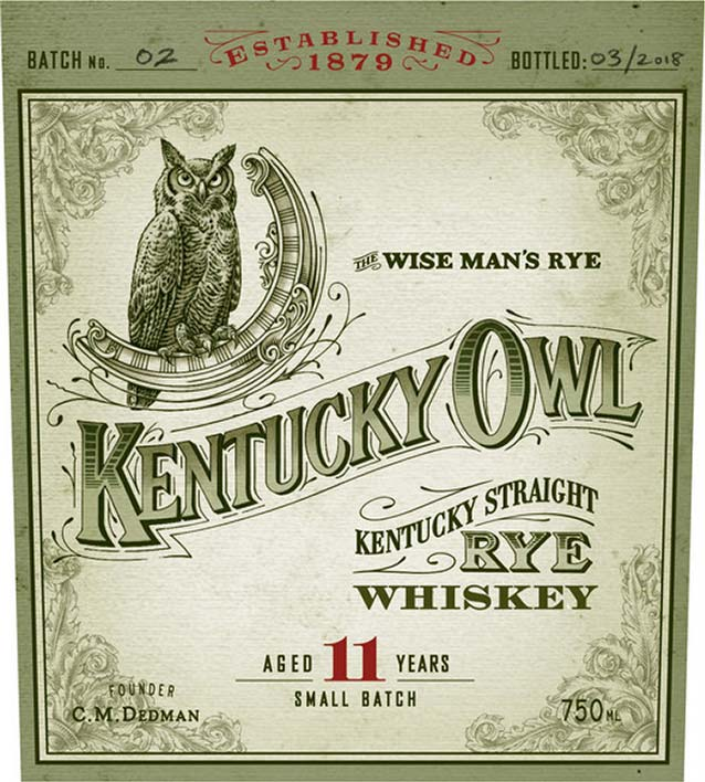Kentucky Owl Rye Batch #2 - Front Label