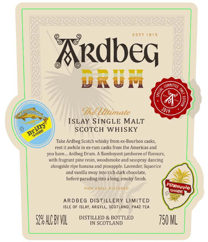 Ardbeg Drum Committee Edition - Front Label