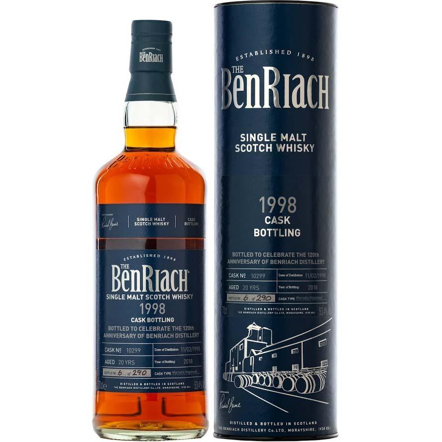BenRiach 1998 Cask No. 10299 120th Anniversary
