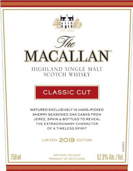 The Macallan Classic Cut 2019 Limited Edition - Front Label