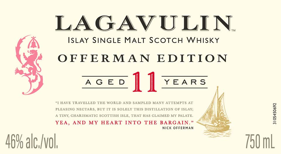 Lagavulin Offerman Edition 11 Year Old - Front Label