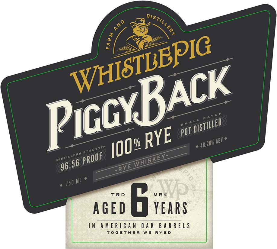 WhistlePig Piggyback Rye Aged 6 Years - Front Label